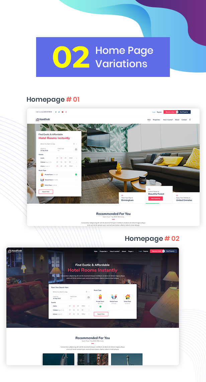 Houzillo - Bookings and Rental WordPress Theme - 9